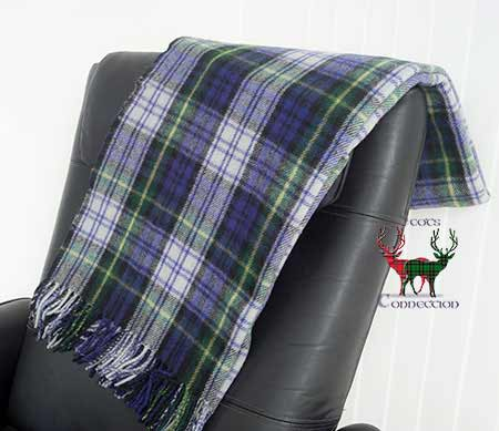 Dress Gordon Tartan Blanket on Armchair