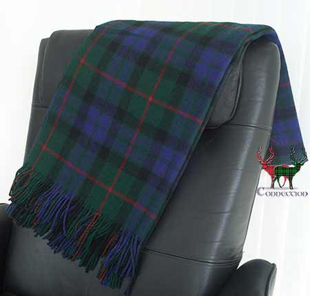 Gunn Tartan Blanket on Armchair