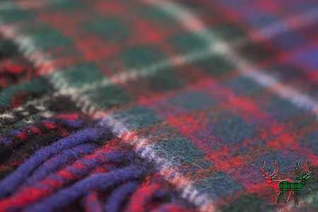 MacDonald of Clanranald Tartan Throw Blanket