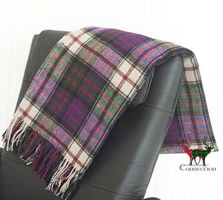 MacDonald Dress Tartan Throw on Armchair