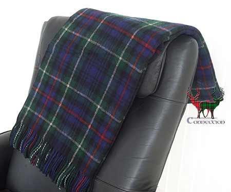MacKenzie Tartan Throw on Armchair