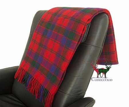 Robertson Tartan Throw on Armchair