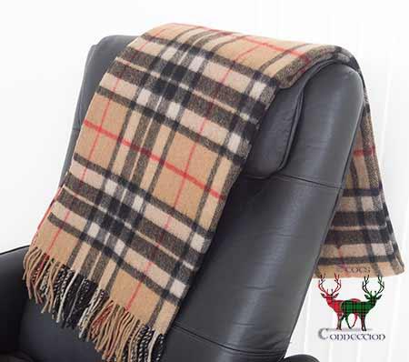 Thomson Camel Tartan Blanket
