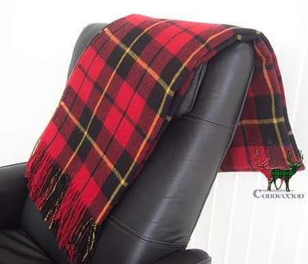 Wallace Tartan Blanket on Armchair