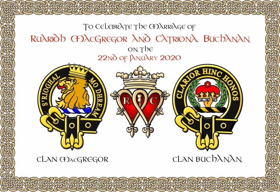 Scottish Clan Wedding Certificate
