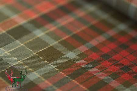 Gordon Red Weathered Tartan Fabric