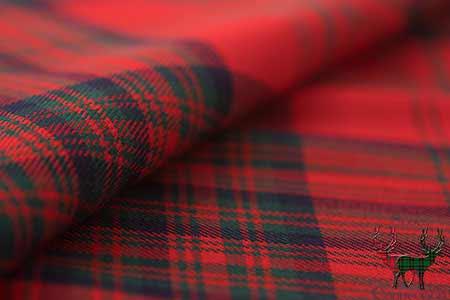Matheson Red Heavyweight Tartan Fabric