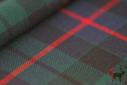 Morrison Green Heavyweight Tartan Fabric